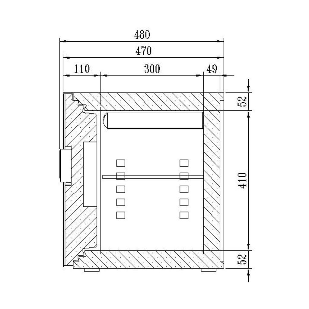 ディプロマット デジタルテンキー式 デザイン金庫 60分耐火 容量36L ダークグレイ 警報音付   I-WS500ALDG