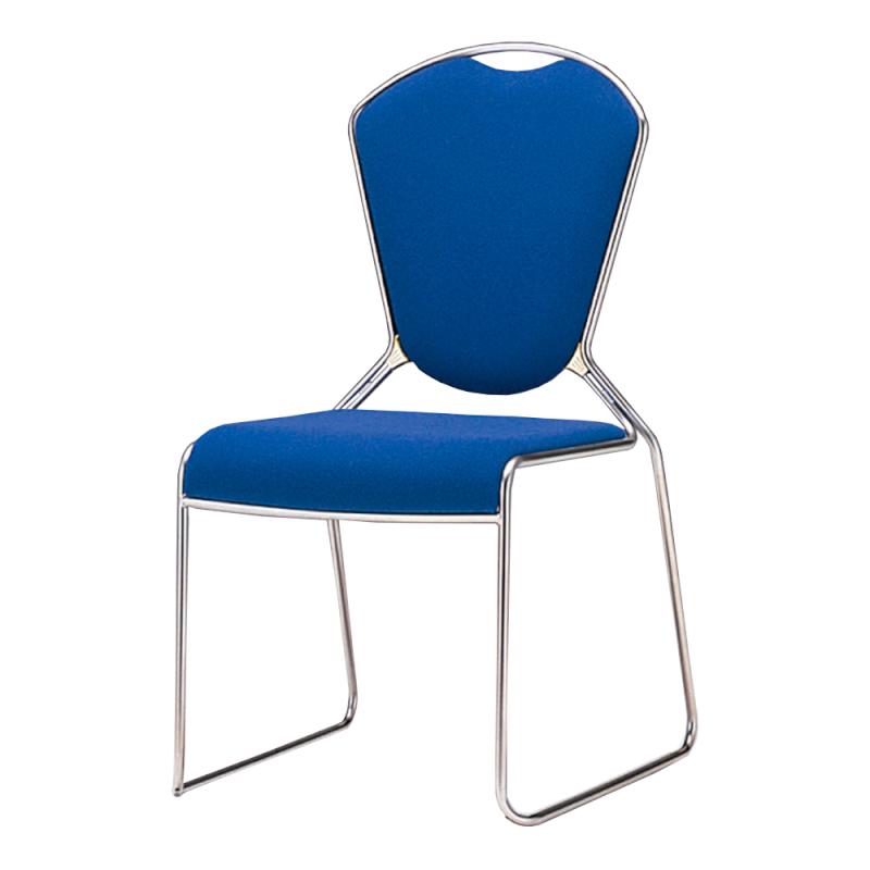 ミーティングチェア スタッキングチェア レセプション用椅子 ループ脚 ステンレス メッキ脚 レザー | I-CL950-LYL