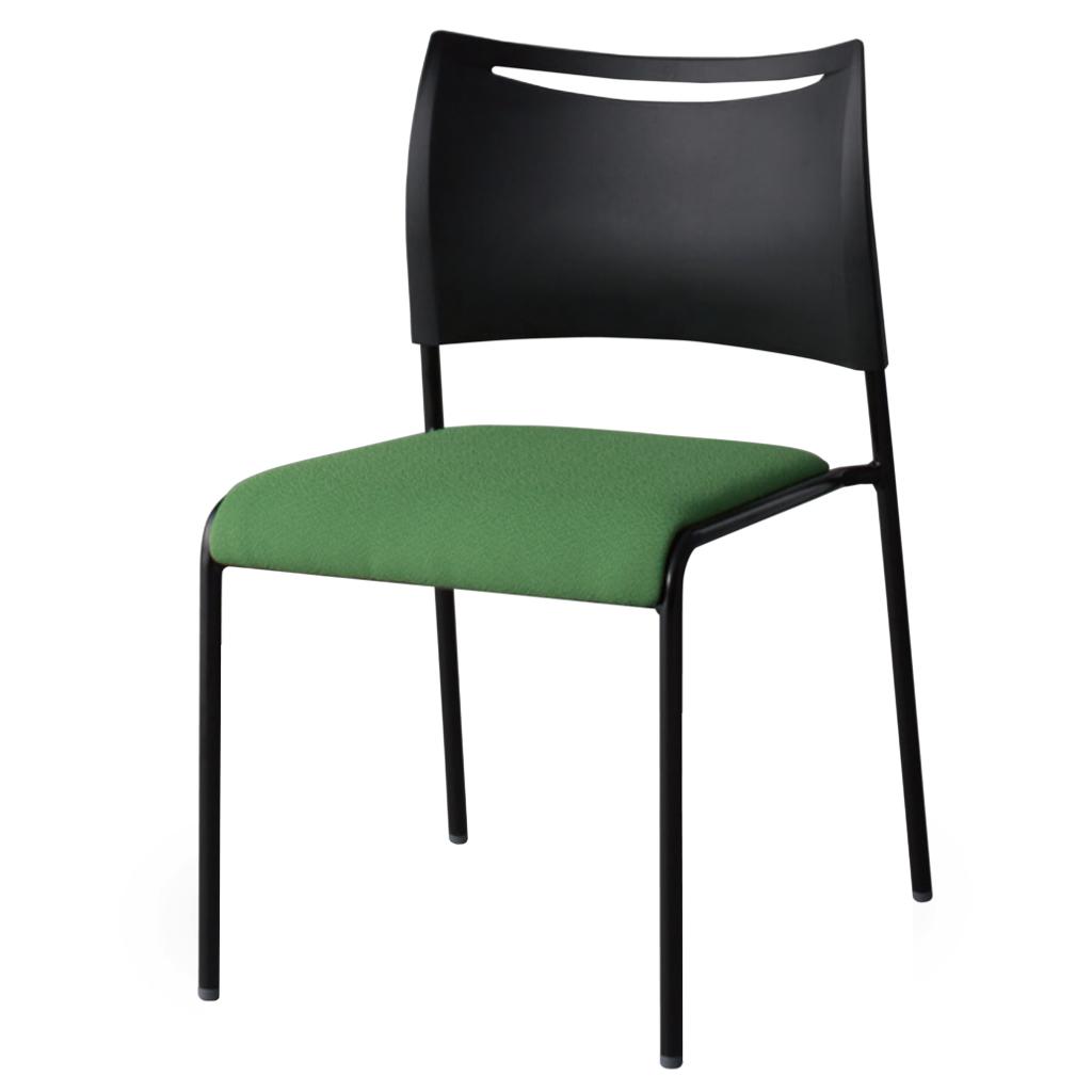 ミーティングチェア スタッキングチェア 会議用椅子 ブラック | I-LTS-4B-F