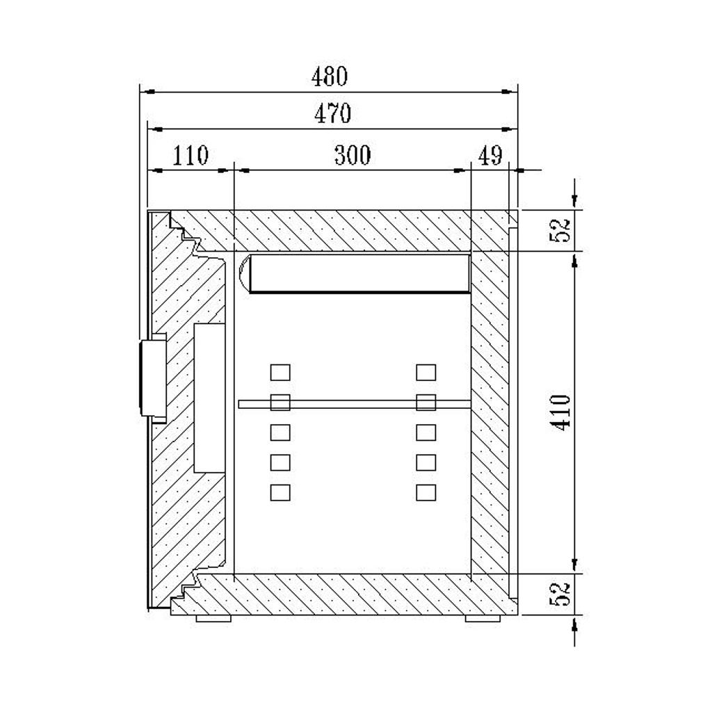 ディプロマット デジタルテンキー式 デザイン金庫 60分耐火 容量36L ライトグレイ 警報音付   I-WS500ALLG