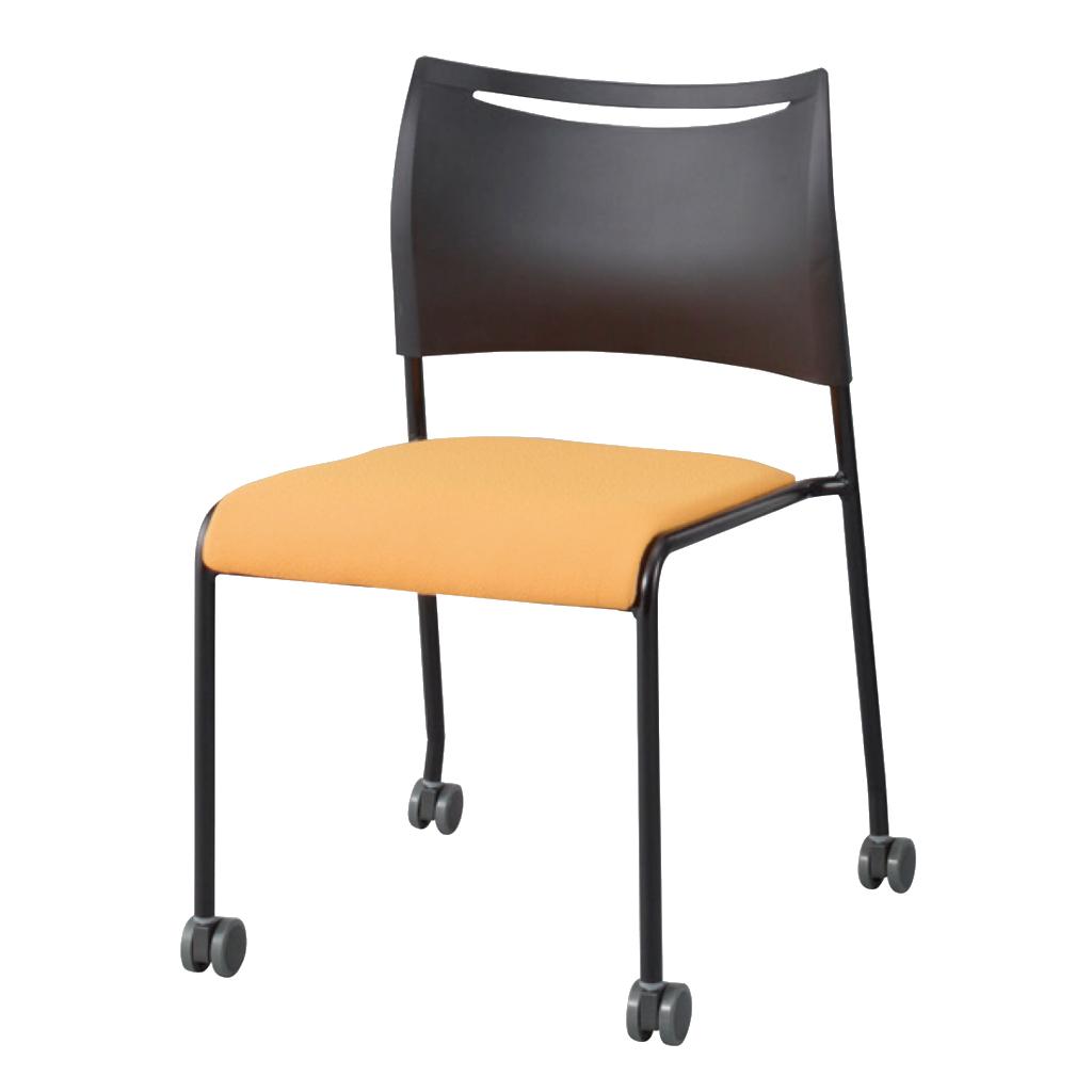 ミーティングチェア スタッキングチェア 会議用椅子 ブラック   I-LTS-4CB-F