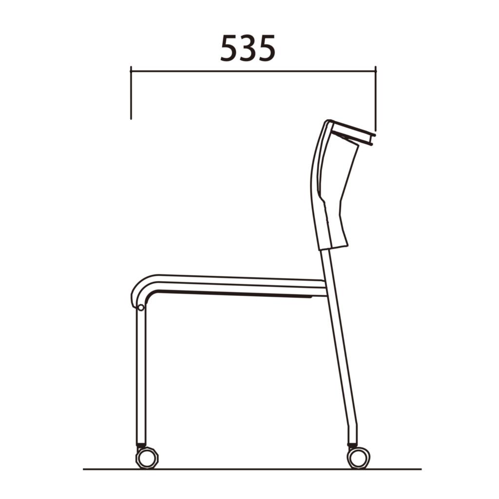ミーティングチェア スタッキングチェア 会議用椅子 ブラック | I-LTS-4CB-F