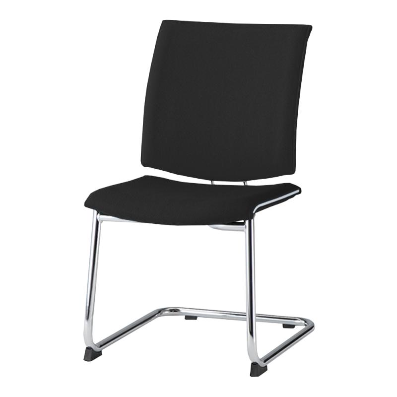 ミーティングチェア 応接用椅子 カンチレバー脚 スチール メッキ脚 布 | I-TRF20K-F