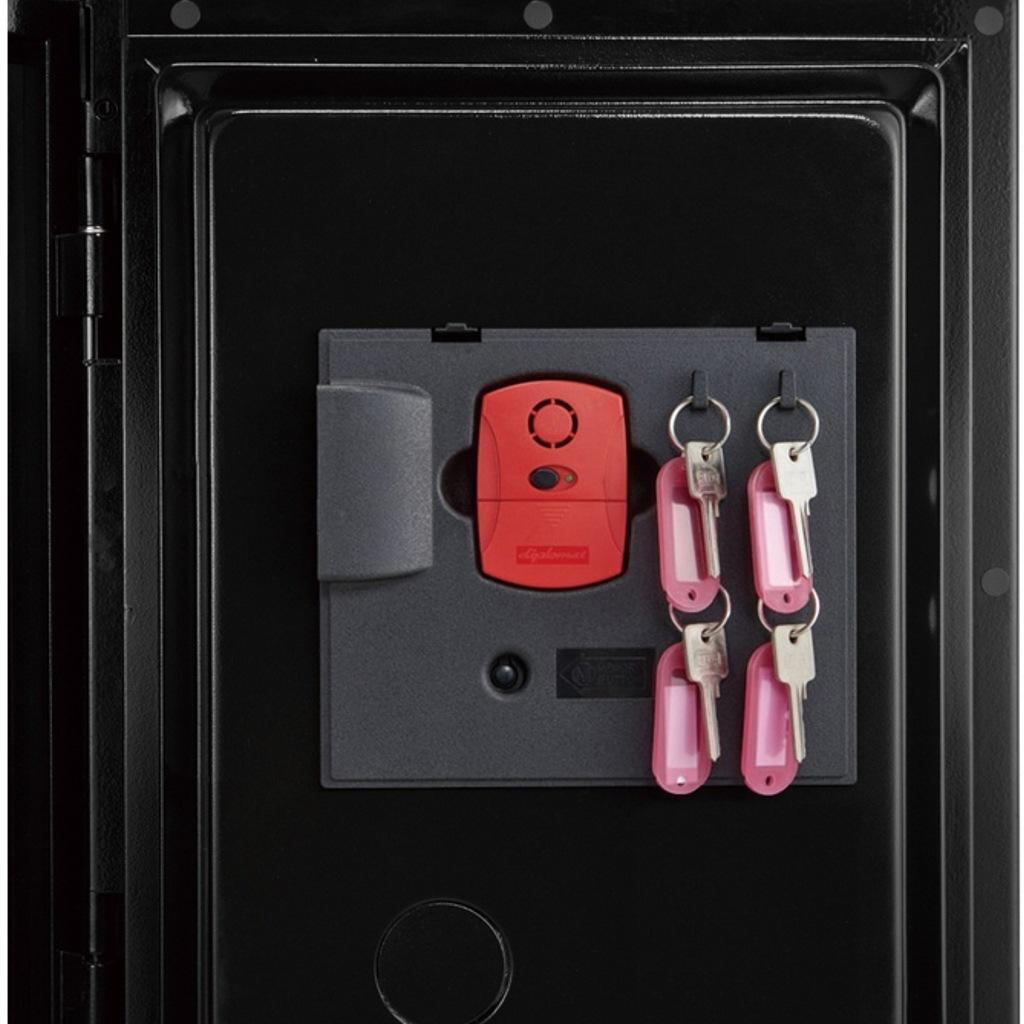 ディプロマット デジタルテンキー式 デザイン金庫 60分耐火 容量36L オレンジ 警報音付 | I-WS500ALO