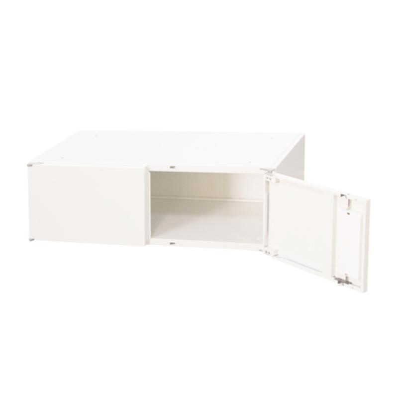 書庫 キャビネット 両開き型 1段 上置き専用 W900 D450 H300 ホワイト   I-SSN45-03H【167552】