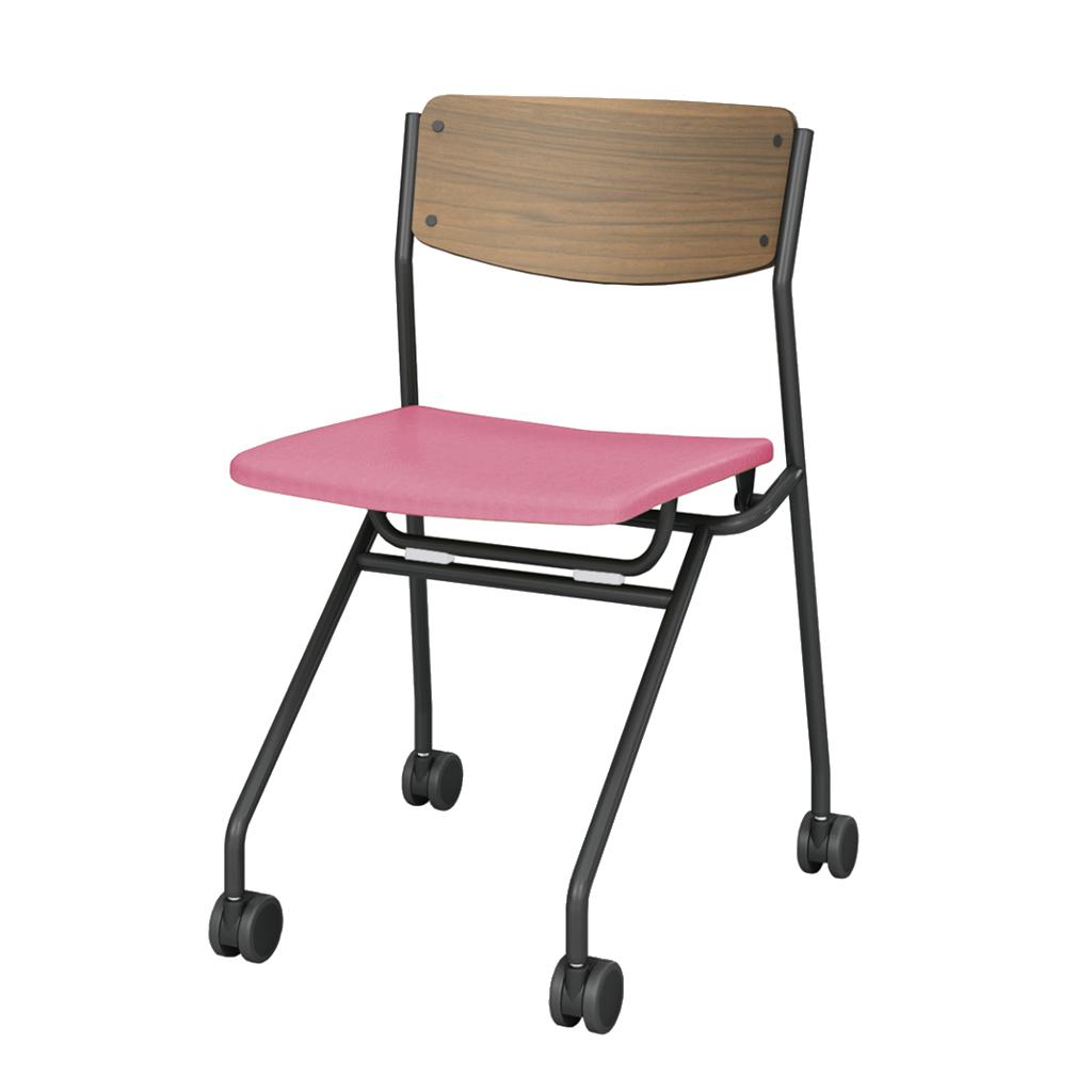 ミーティングチェア ネスティングチェア 会議用椅子 ブラック | I-ESC-NP-B