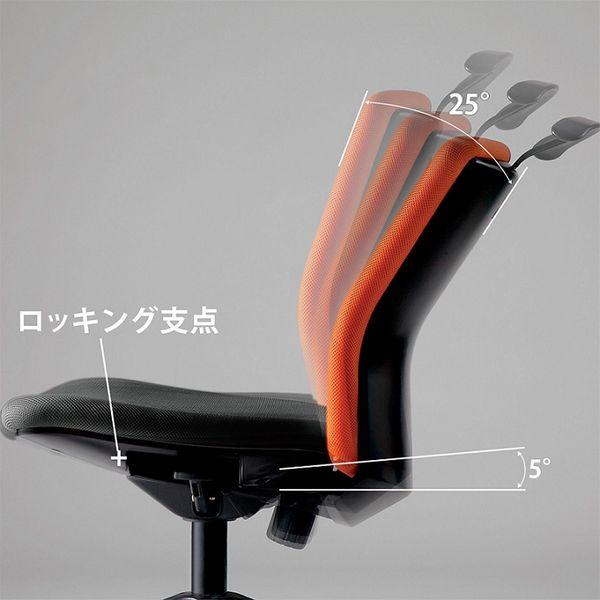 オフィスチェア デスクチェア 事務椅子 肘なし シンクロロッキングタイプ HG-X | I-CKR-S46M0-F