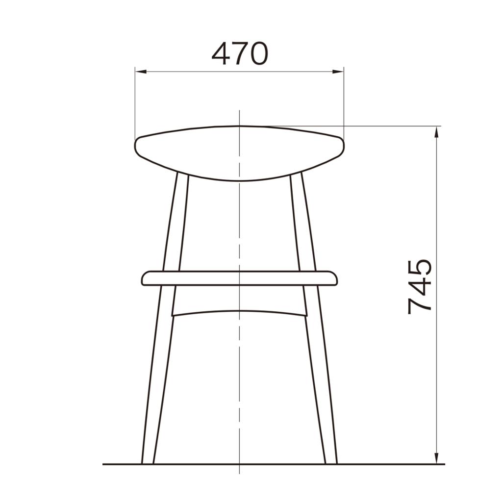 木製チェア ダークブラウン エコルテ | I-ECOLTE-01V-D