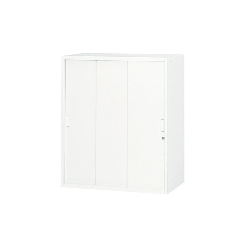 書庫 キャビネット スチール3枚引き戸型 3段 | I-UASS-CW11