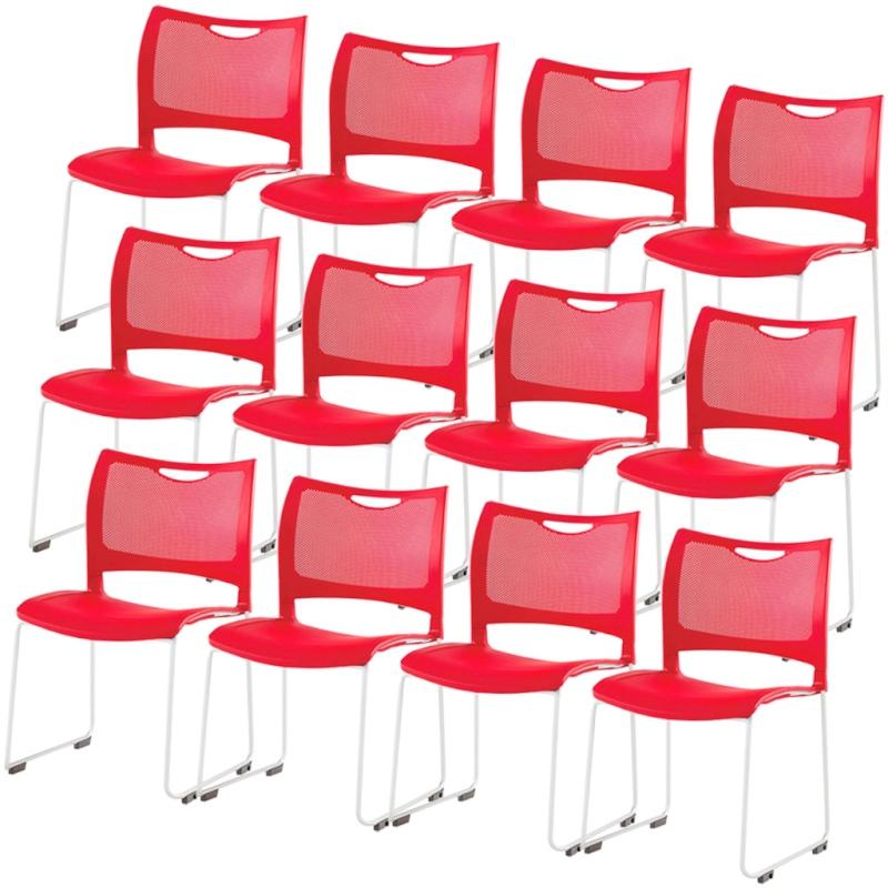 ミーティングチェア スタッキングチェア 会議用椅子 | 【12脚セット】 I-MC-MKT01