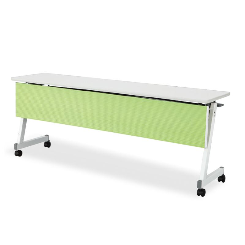 会議用テーブル キャスター付き W1800 D450 H700 幕板付き Z脚タイプ | I-FTX-ZW1845P