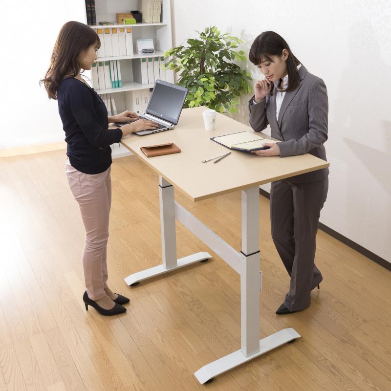 昇降デスク スタンディングテーブル W1000 D700 H720〜1140 ガス圧式 | I-WGSD-H107