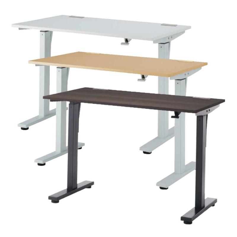 昇降デスク スタンディングテーブル W1200 D700 H720〜1140 ガス圧式 | I-WGSD-H127