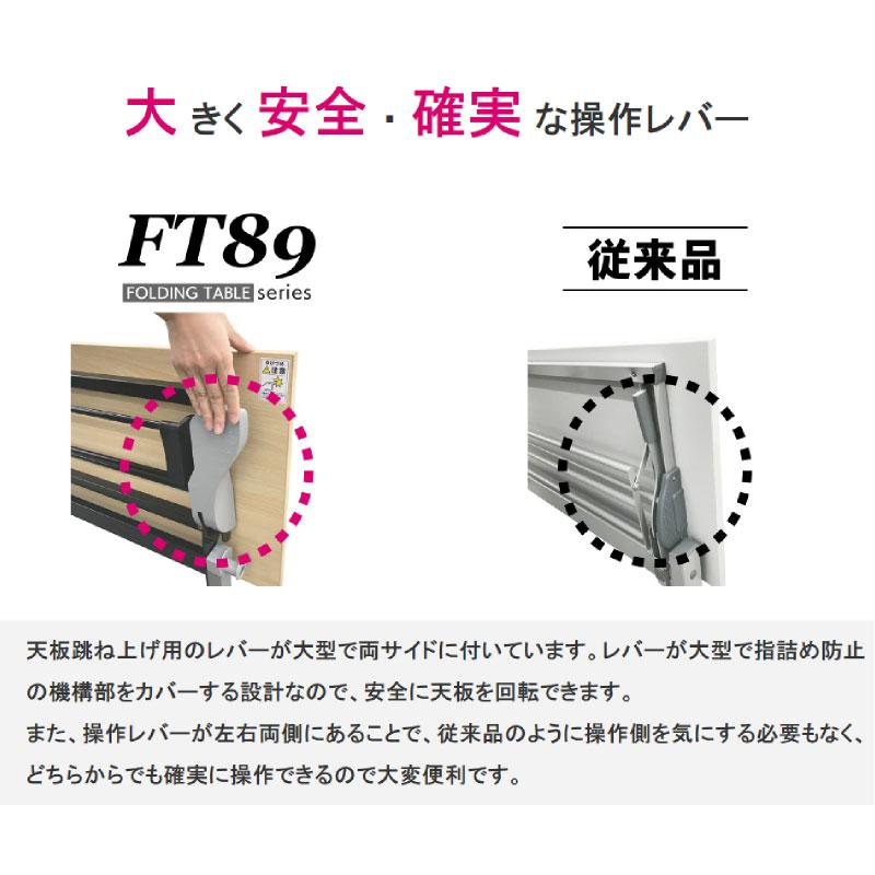 会議用テーブル キャスター付き W1800 D600 H720 幕板なし Z脚タイプ | I-FT89-Z1860T