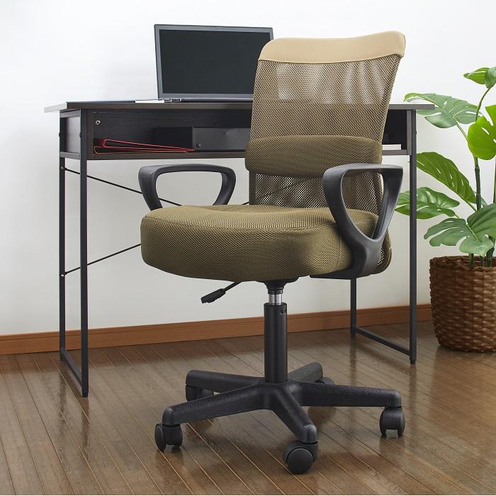 \最大30%OFF!冬の応援フェア/オフィスチェア デスクチェア 事務椅子 メッシュ 肘あり | OFC-022