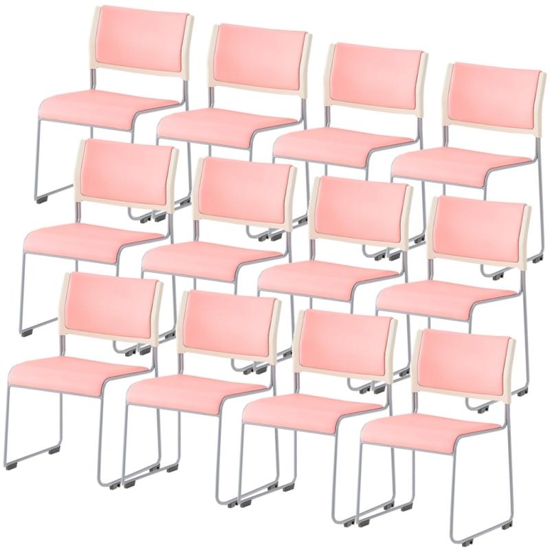 ミーティングチェア スタッキングチェア 会議用椅子 | 【12脚セット】 I-LTS-110P-V