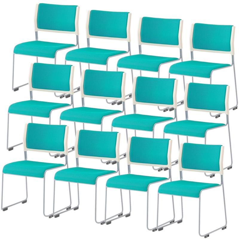 ミーティングチェア スタッキングチェア 会議用椅子   【12脚セット】 I-LTS-110P-F