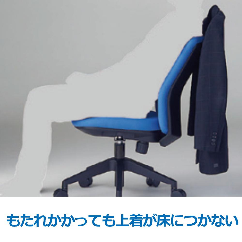 オフィスチェア デスクチェア 事務椅子 肘なし ハンガー付き HG1000 | I-HG1000-M0S-F
