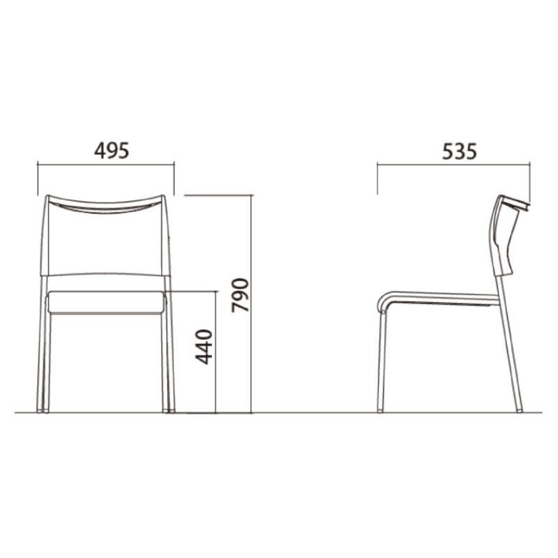 ミーティングチェア スタッキングチェア 会議用椅子 | 【12脚セット】 I-LTS-4V
