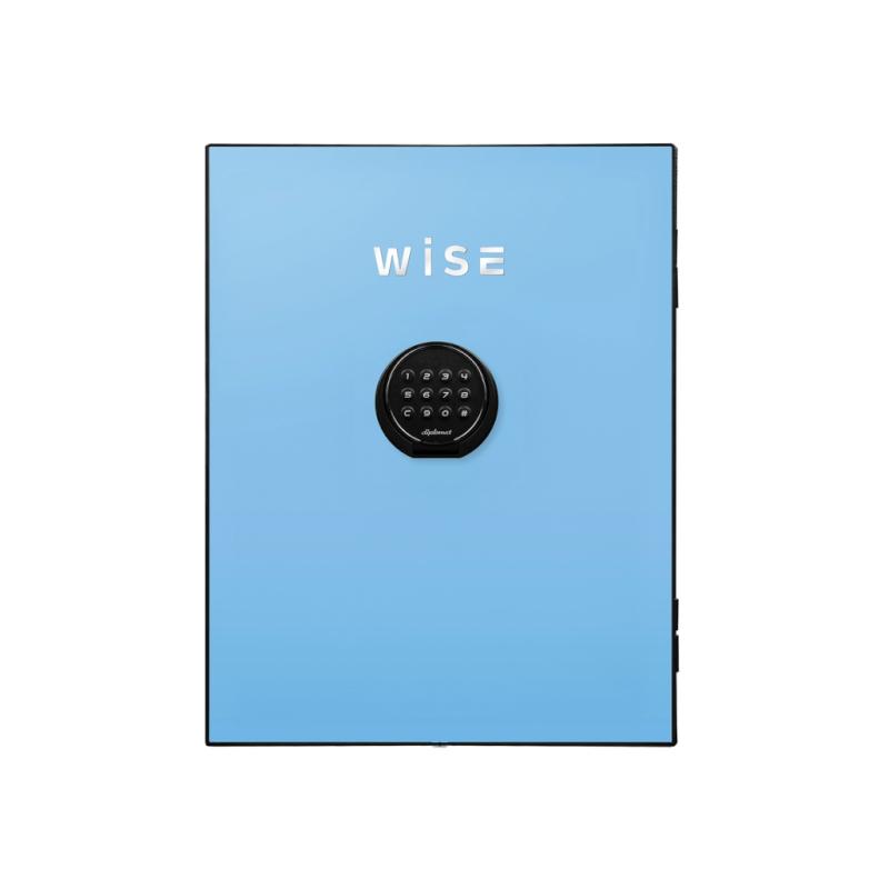 ディプロマット デジタルテンキー式 デザイン金庫用フェイスパネル 容量5Kg ライトブルー   I-WS500FPB
