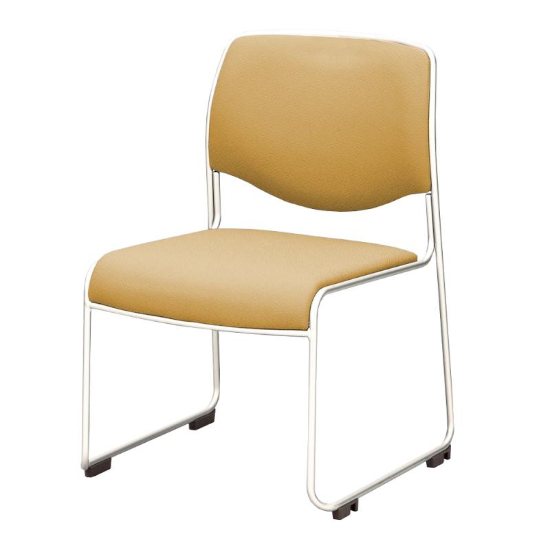 ミーティングチェア スタッキングチェア 会議用椅子 ループ脚 ステンレス メッキ脚 レザー | I-DMC20-LYL