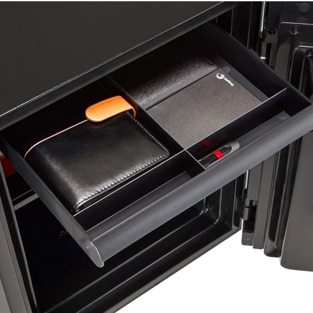 ディプロマット タッチパネル式 デザイン金庫 60分耐火 容量36L オニキスブラック 警報音付 | I-S500B