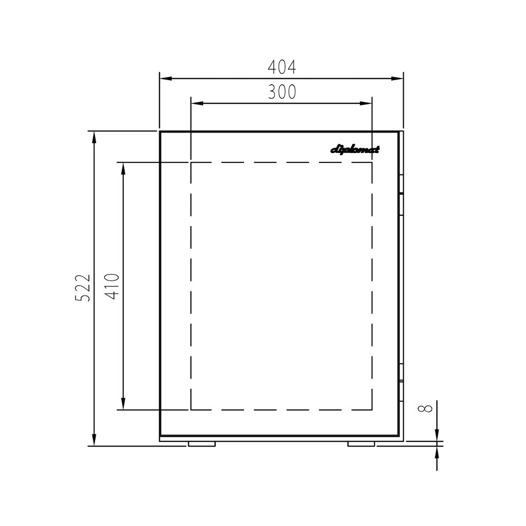 ディプロマット タッチパネル式 デザイン金庫 60分耐火 容量36L ガーネットレッド 警報音付 | I-S500R