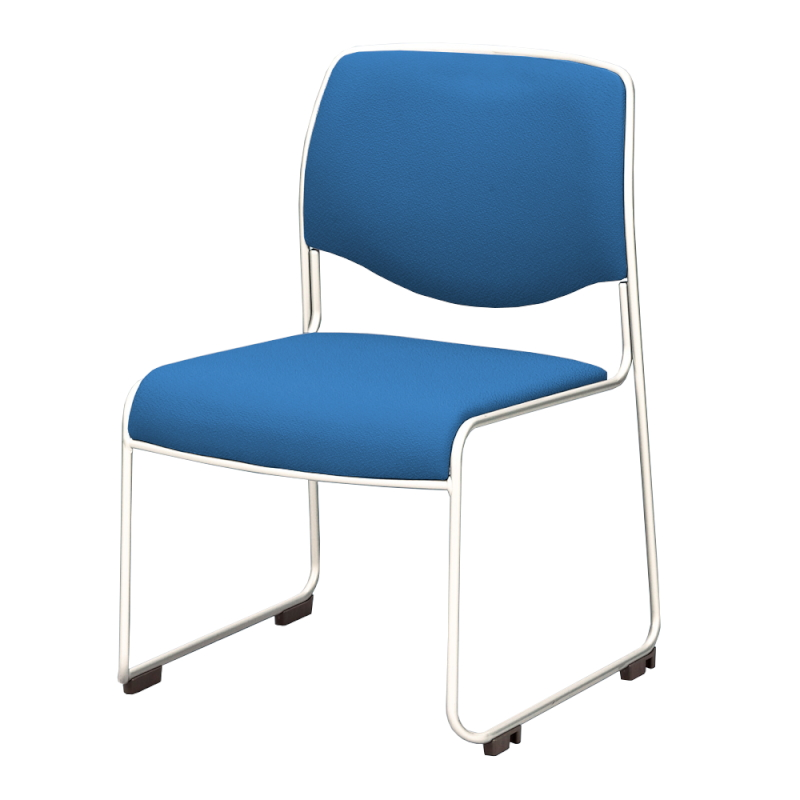 ミーティングチェア スタッキングチェア 会議用椅子 ループ脚 ステンレス メッキ脚 上級布   I-DMC20-PXN