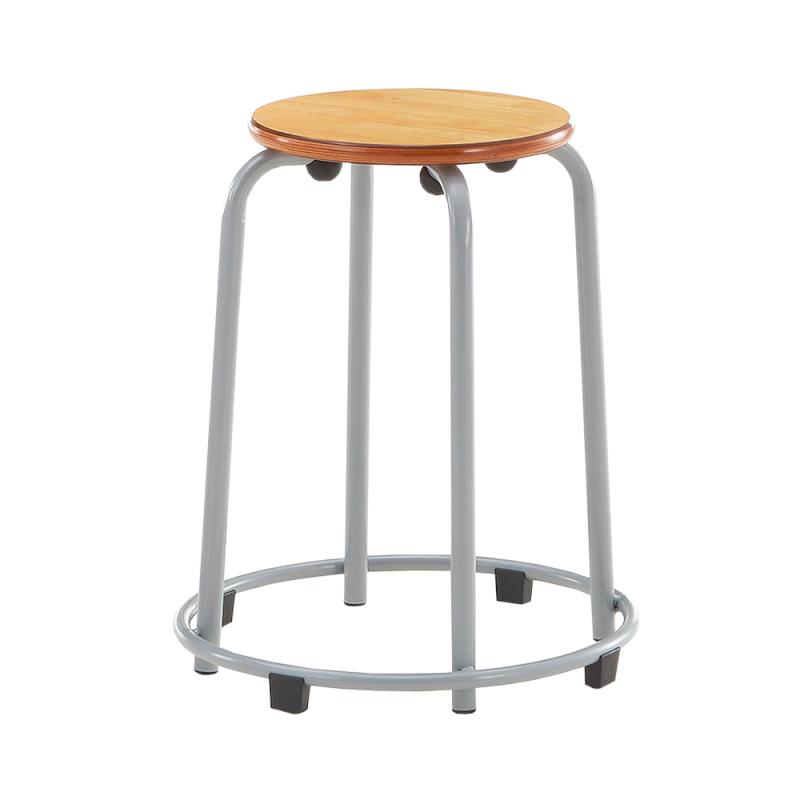丸椅子 スツール スタッキングチェア 学校教育用椅子 4本脚 スチール ステップリング付き 樹脂 | I-SRC-100S