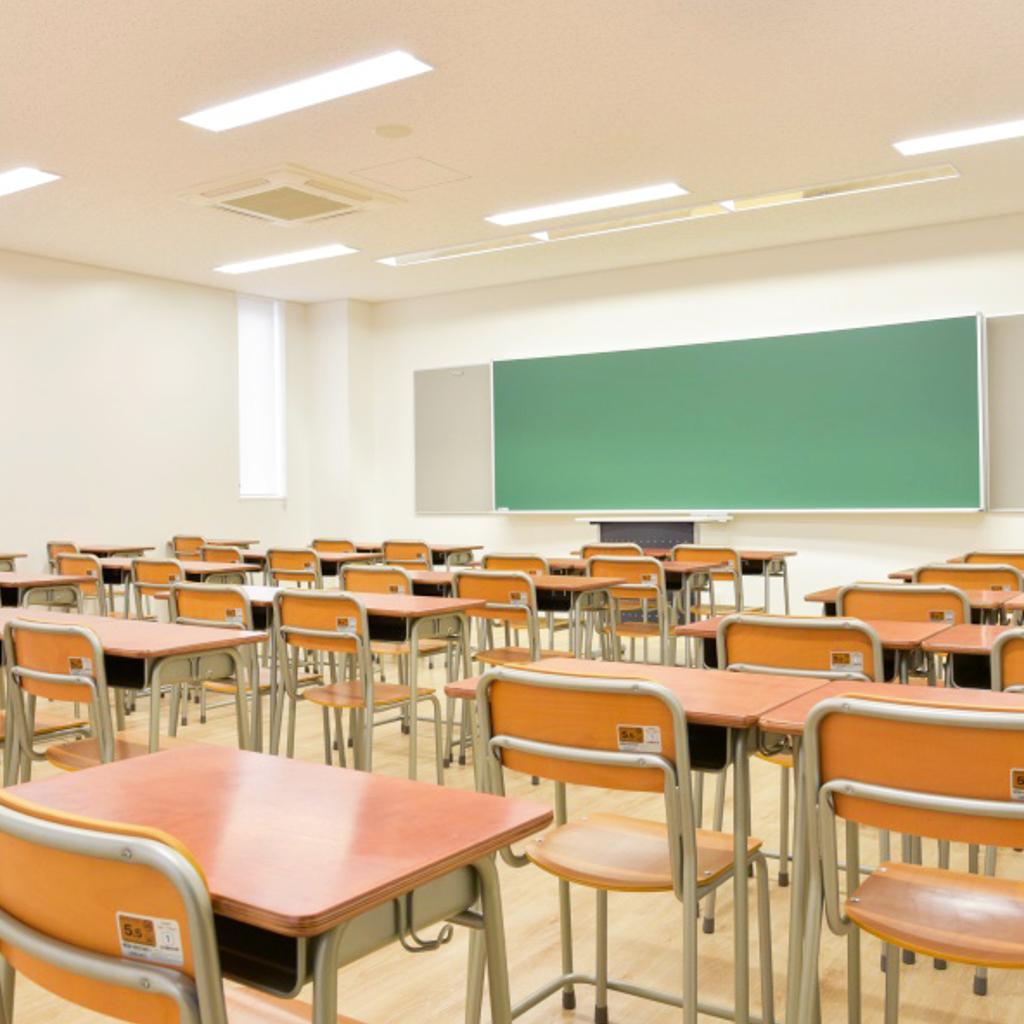 学校椅子 生徒用椅子 固定式 旧JIS2号 背座合板 | I-エコール2001-C02NFW