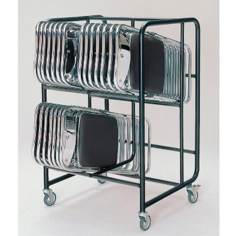 会議用椅子用台車 パイプ椅子用台車 折りたたみ椅子用台車   I-No.15