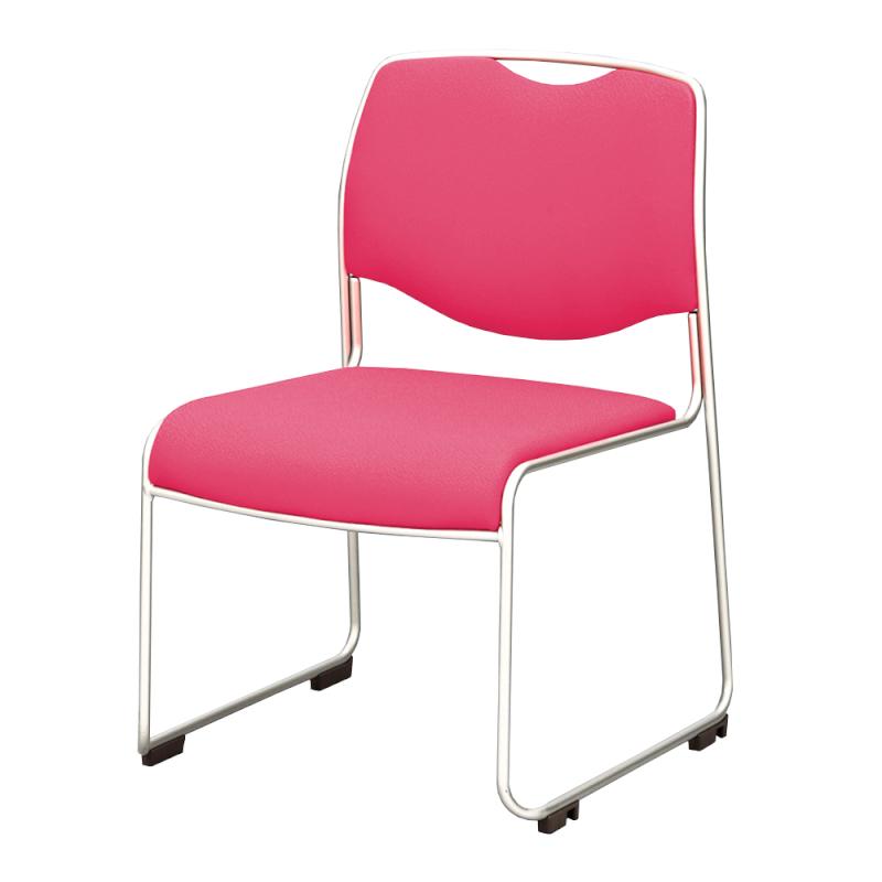 ミーティングチェア スタッキングチェア 会議用椅子 ループ脚 ステンレス メッキ脚 布   I-DMC25-SJN
