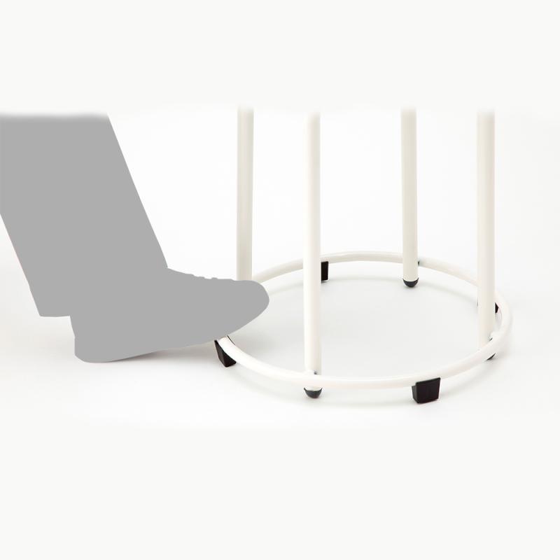 丸椅子 スツール スタッキングチェア 学校教育用椅子 4本脚 スチール ステップリング付き 樹脂 | I-SRC-100L