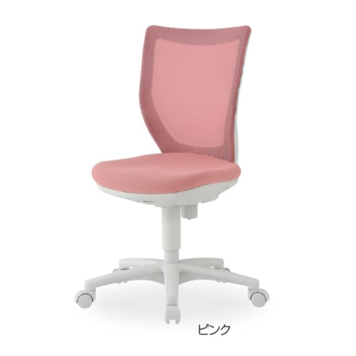 オフィスチェア デスクチェア 事務椅子 肘なし 背メッシュ パステル BIT-WMX | I-BIT-WMX45M0-F