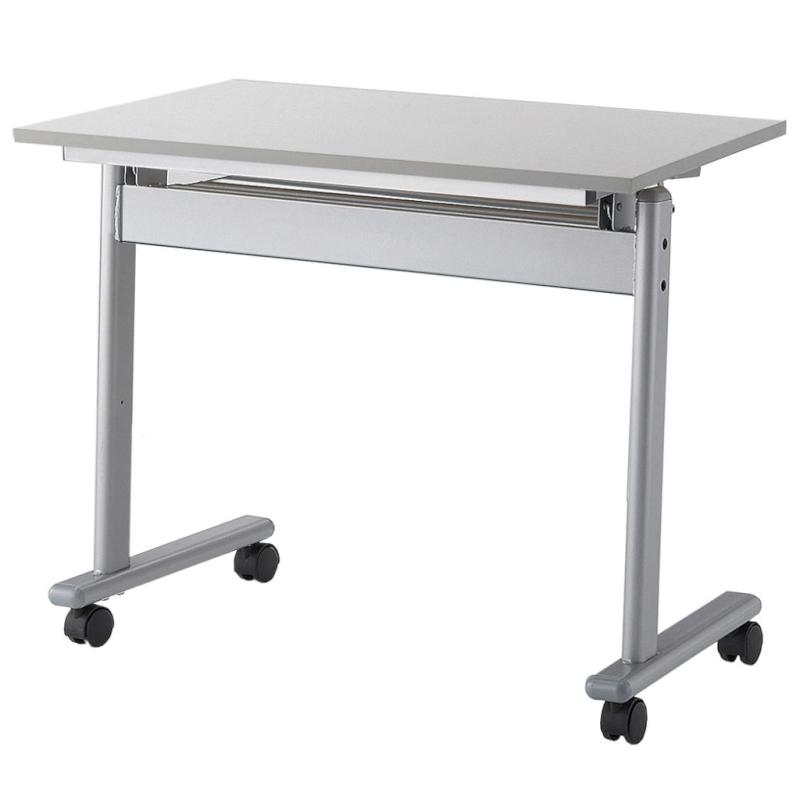 会議用テーブル キャスター付き W750 D450 H700 幕板なし   I-FTE−7545