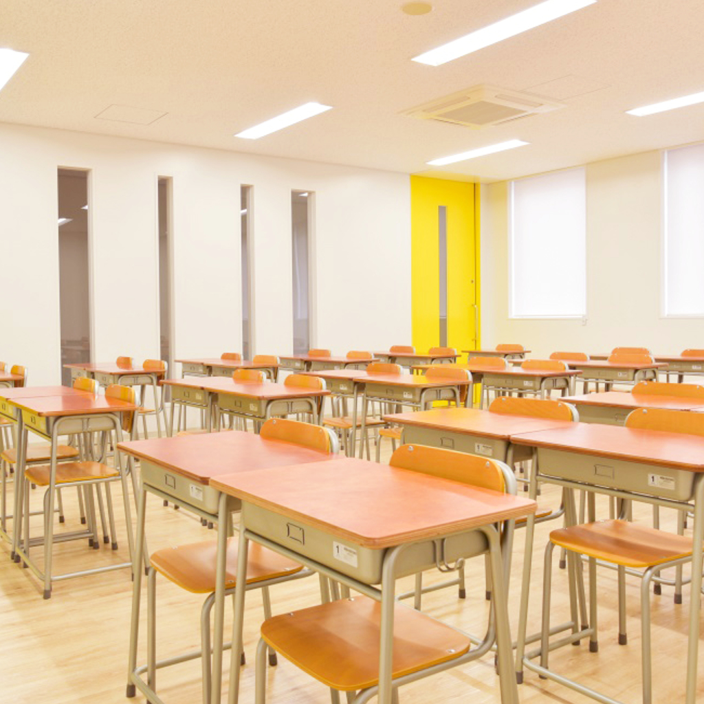 学校椅子 生徒用椅子 固定式 新JIS5.5号 背座合板 | I-エコール2001-C02NFW