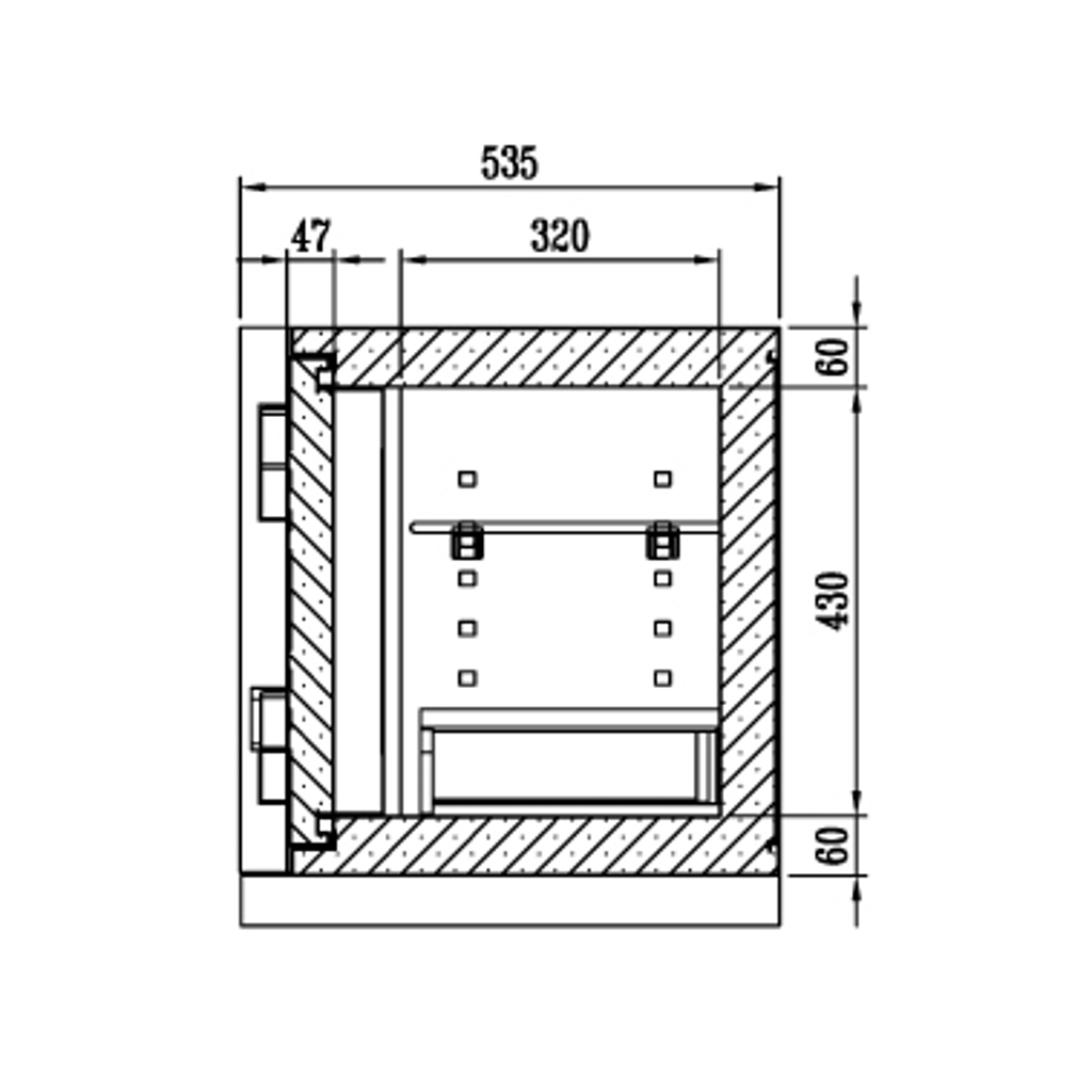 ディプロマット デジタルテンキー式 デザイン金庫 60分耐火 防盗性能 容量52L ウッド 警報音付 | I-DPS5500R3WOOD