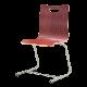 ミーティングチェア スタッキングチェア ラウンジ用椅子 カンチレバー脚 スチール シルバー 塗装脚 木 | I-FKCC-DD-G