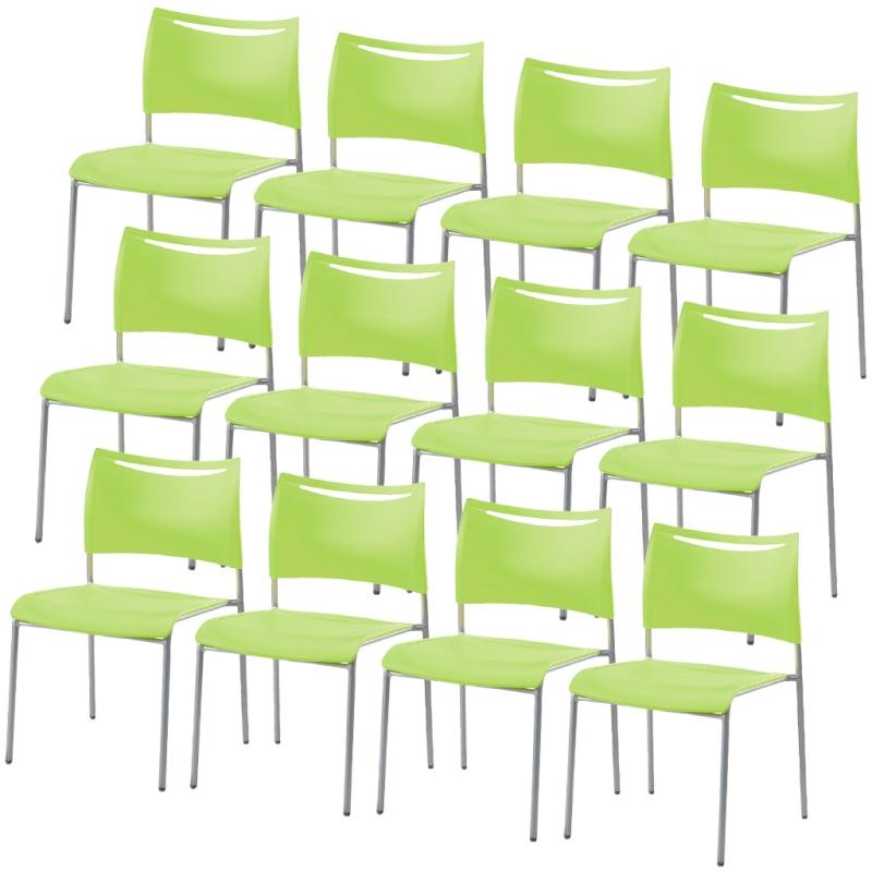 ミーティングチェア スタッキングチェア 会議用椅子 | 【12脚セット】 I-LTS-4Z