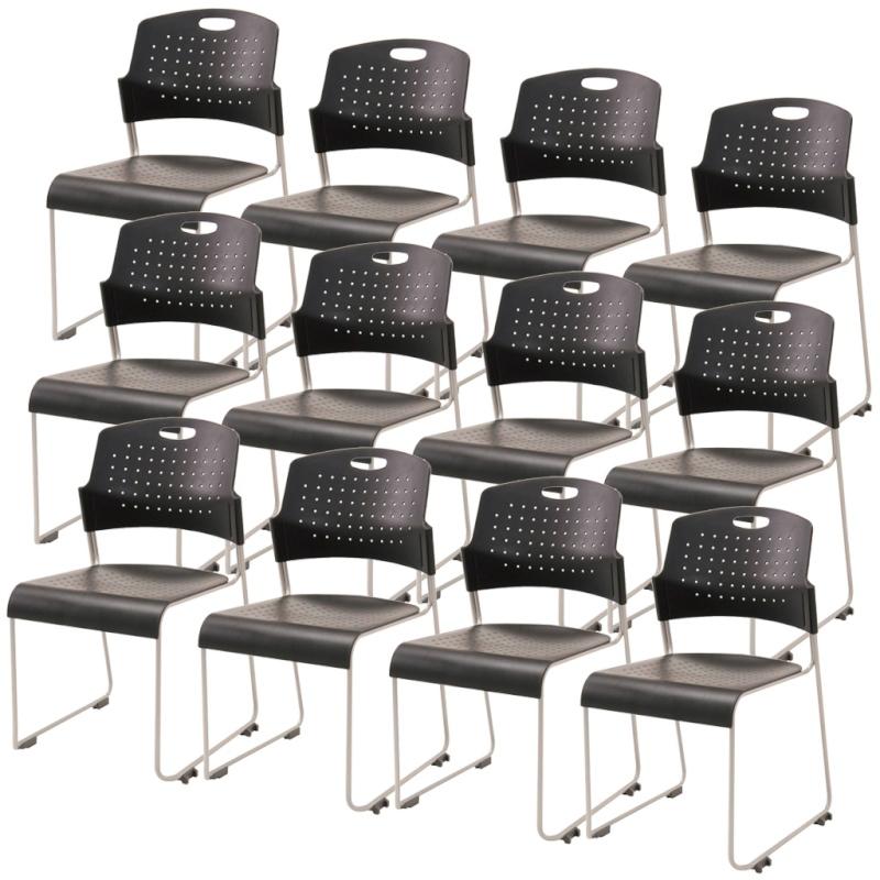 ミーティングチェア スタッキングチェア 会議用椅子 | 【12脚セット】 I-HGS-41PP