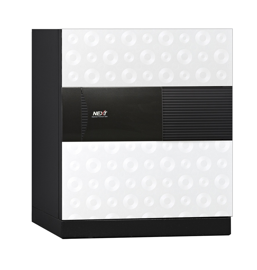 ディプロマット デジタルテンキー式 デザイン金庫 60分耐火 防盗性能 容量52L ホワイト 警報音付 | I-DPS5500R3WHITE