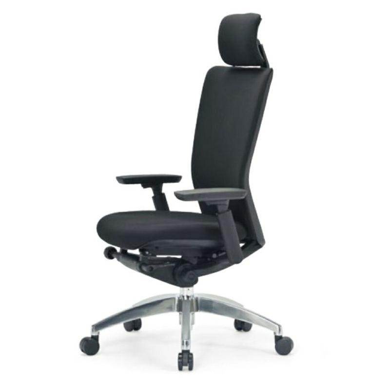 オフィスチェア デスクチェア 事務椅子 肘付き 布張り ブラック | I-ICAI-5575-F-BK