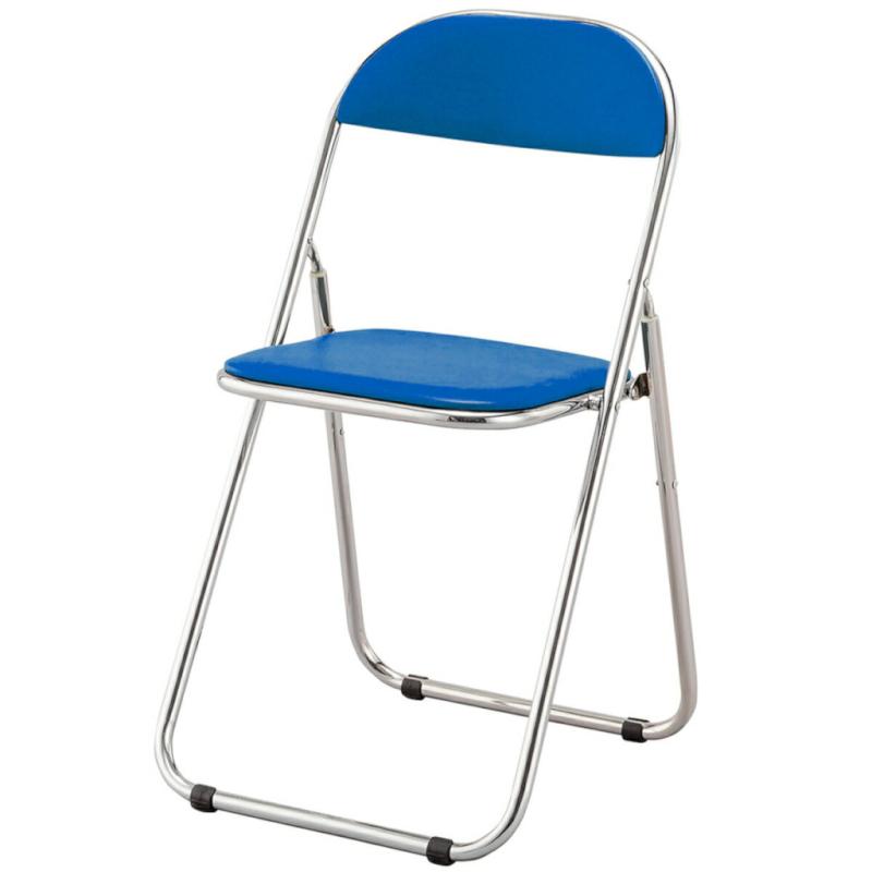 折りたたみ椅子 パイプ椅子 軽量 スチール脚   I-アスカR-A-V