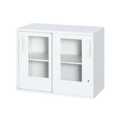 書庫 キャビネット 上下兼用 ガラス引き戸型 2段 | I-HSR45/40W-07SAG