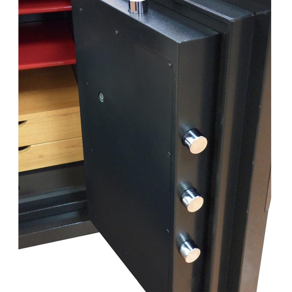 ディプロマット デジタルテンキー式 デザイン金庫 60分耐火 防盗性能 容量76L ブラック 警報音付   I-DPS7500R3BLACK