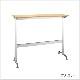 木製テーブル カウンターテーブル W1200 D400 H1000 メッキ脚 フーク | I-FKTK1240-M