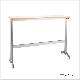 木製テーブル カウンターテーブル W1500 D400 H1000 メッキ脚 フーク | I-FKTK1540-M