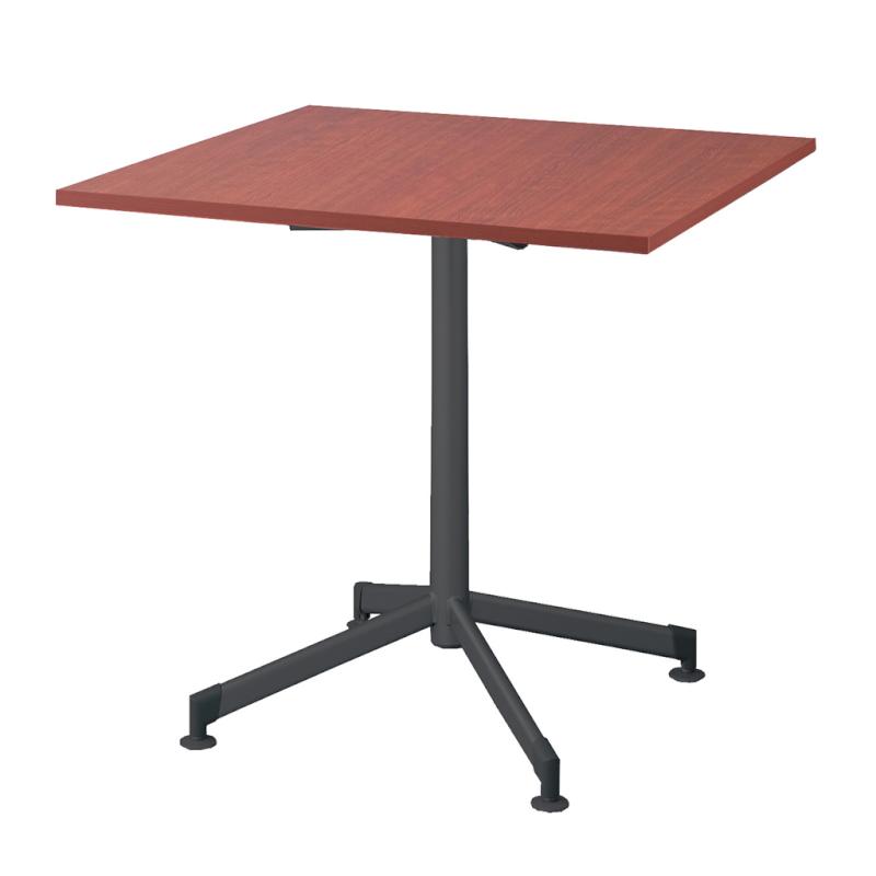 木製テーブル W750 D750 H700 十字 塗装脚 ブラック フーク | I-FKTX7575-B