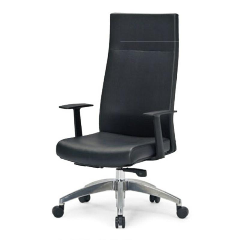 オフィスチェア デスクチェア 事務椅子 肘付き 布張り ブラック   I-ICAI-2295-V-BK