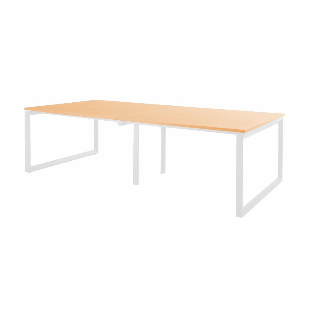 会議用テーブル ミーティングテーブル W2400 D1200 H720   I-BTR-2412